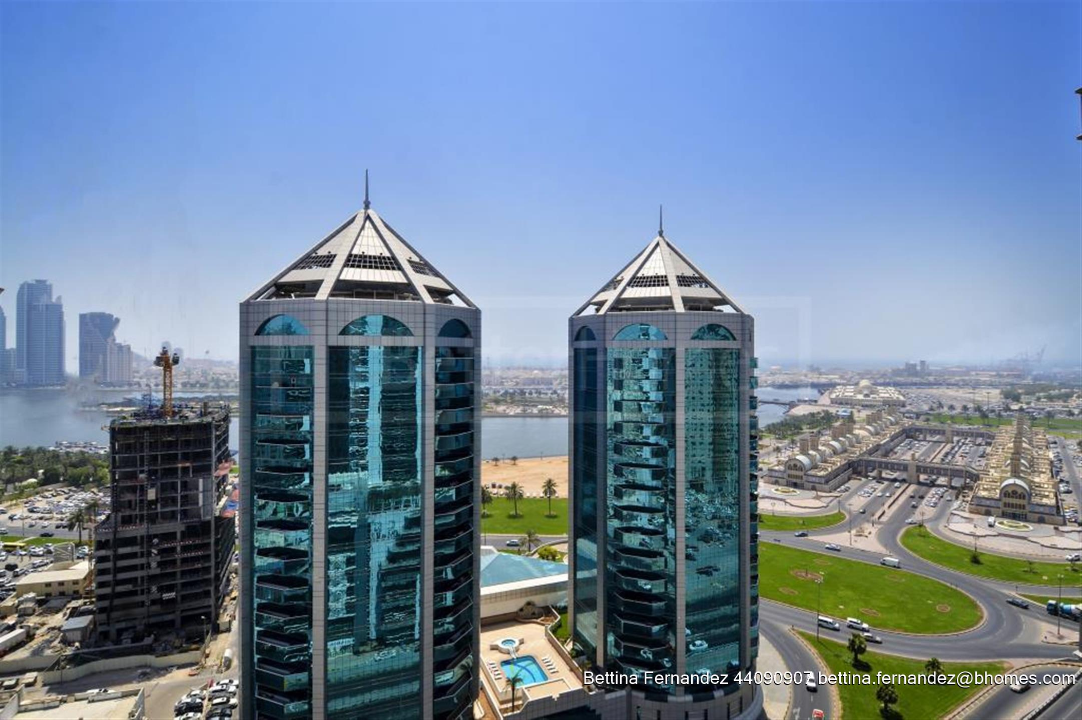 Al Marzouqi Towers are architectural landmark