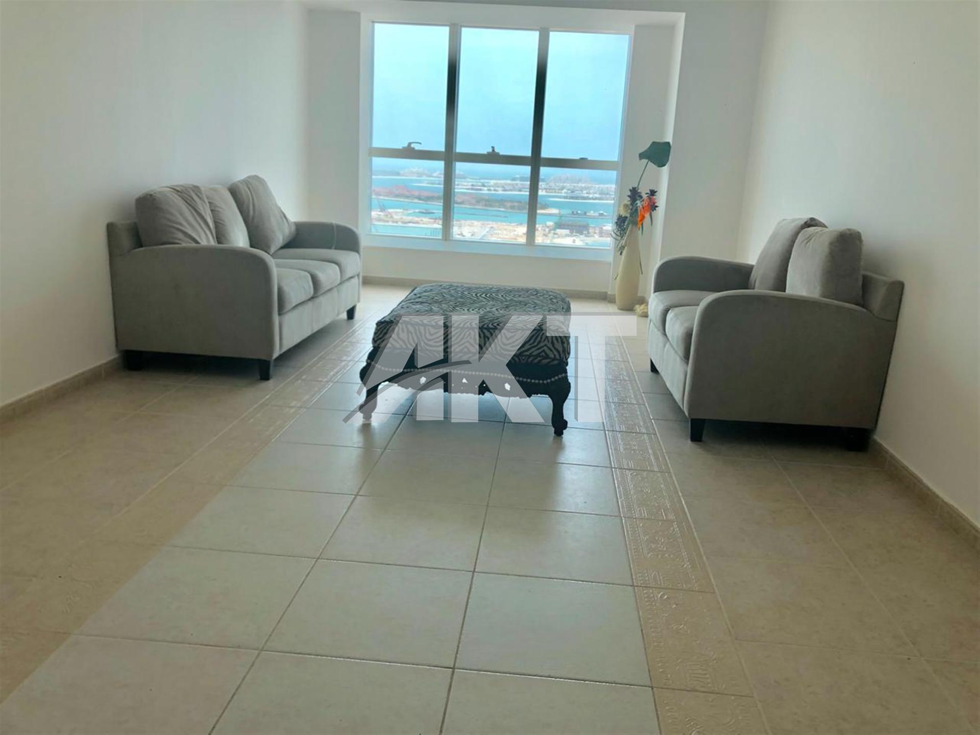 Full Sea View  2BR Sami furnished in luxury Building