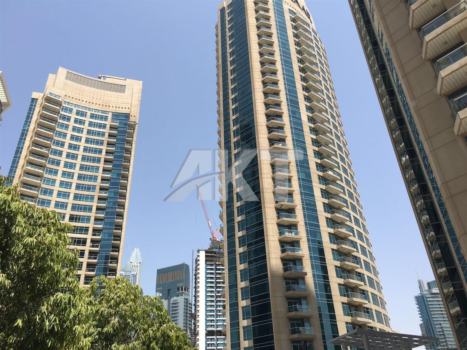 59 K / 1 Bed / Furnished / Full Sea View / Chiller Free