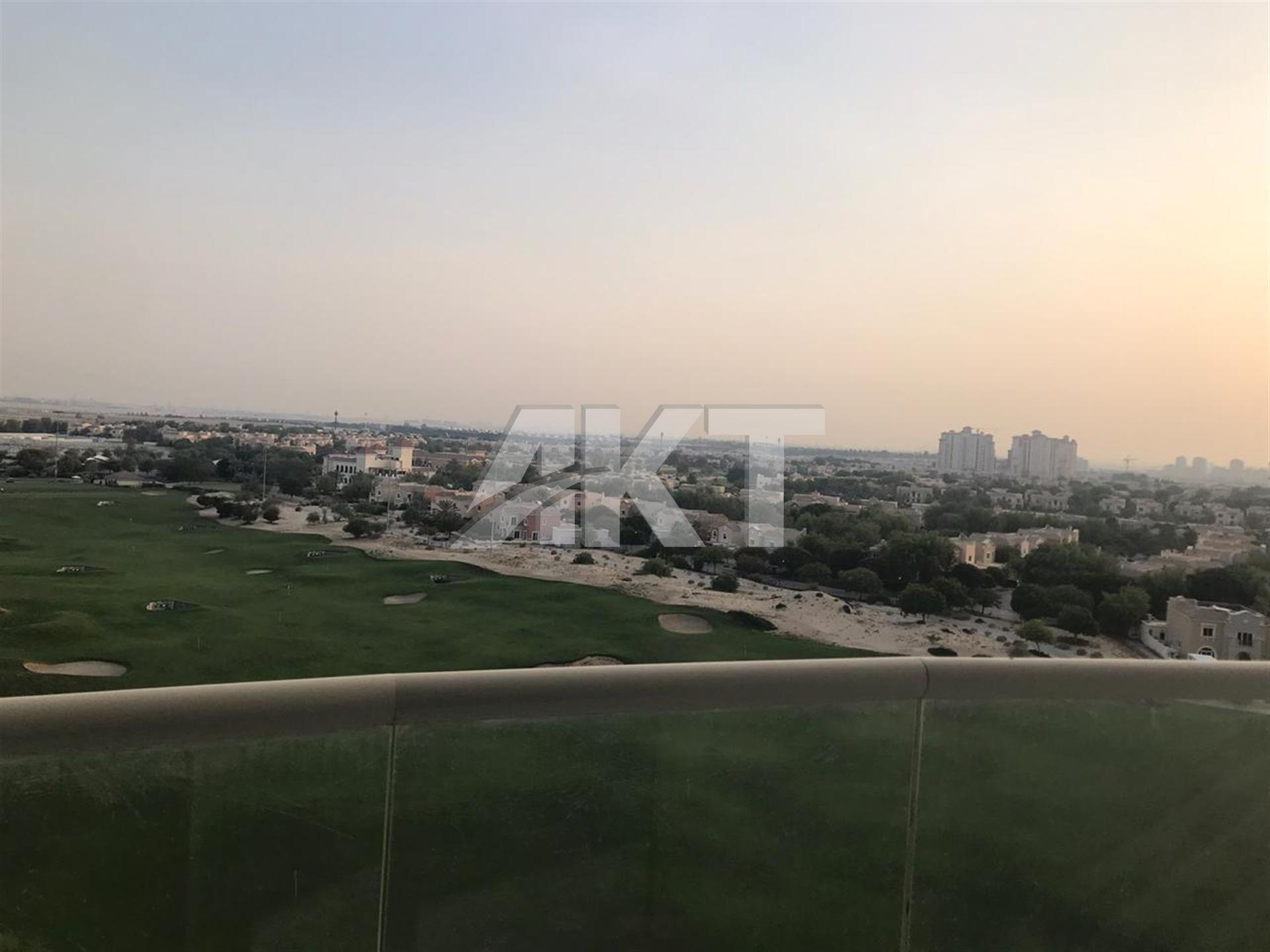 46 K / 12 Cheques / Full Golf View / 1BR / Zenith Tower / Sport City