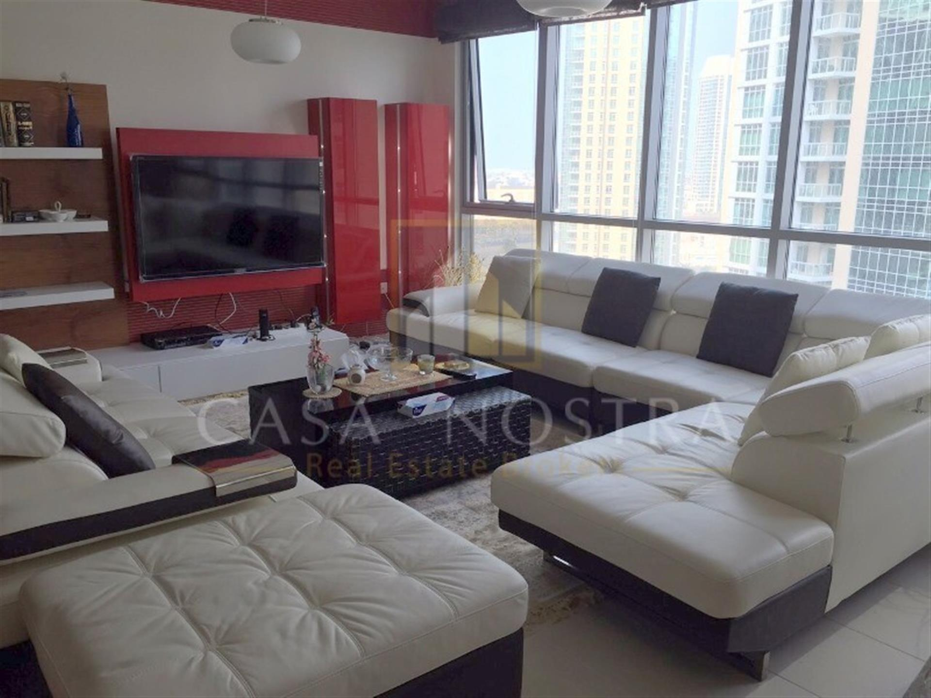 Fully furnished w/ full Burj Khalifa and fountain View