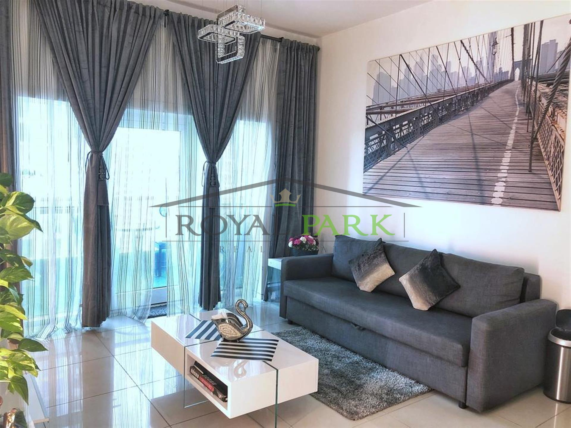 Fully Furnished  1 B/R Apartment With Balcony