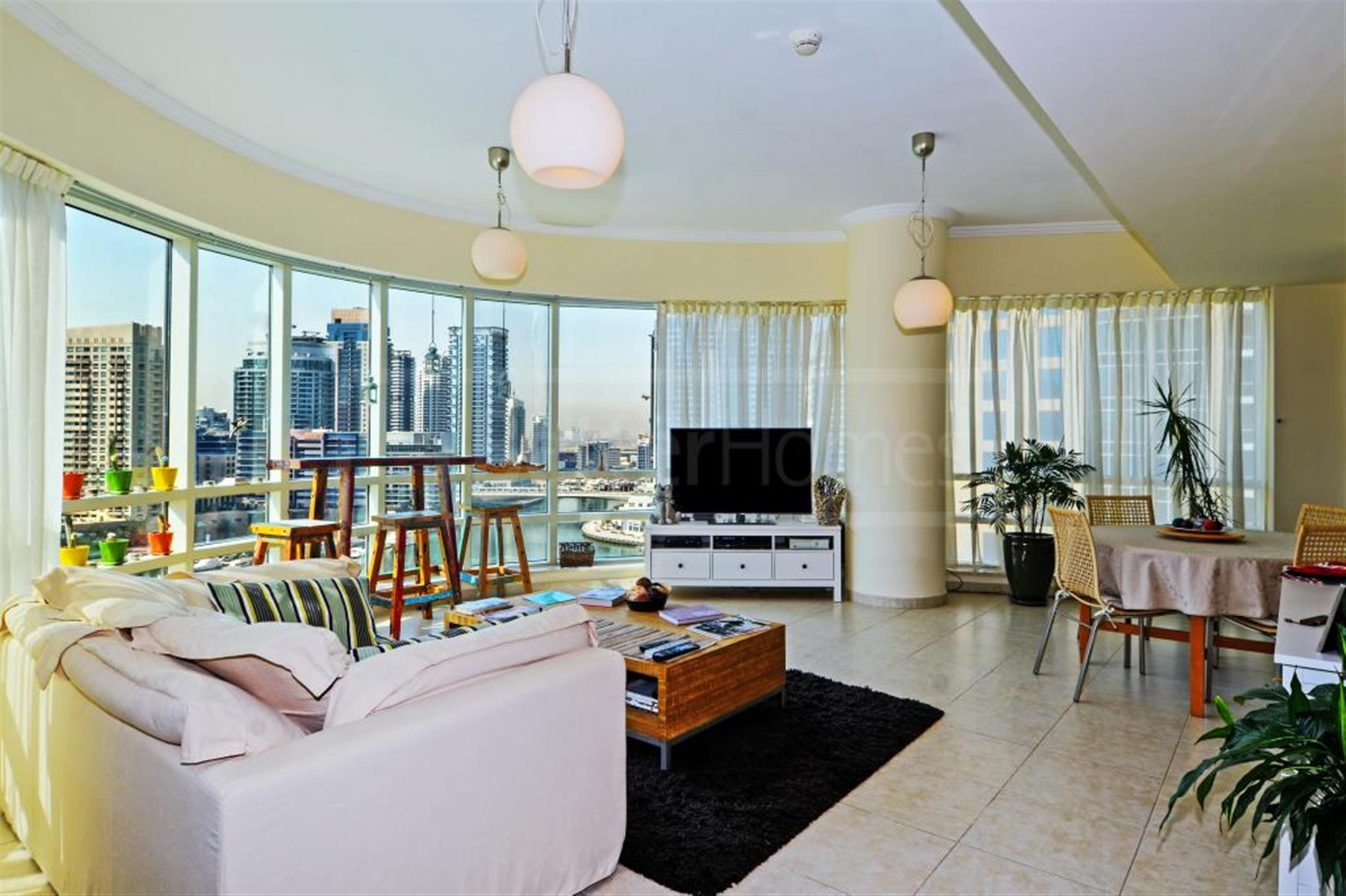 Marina view upgraded unit with study in Sahab