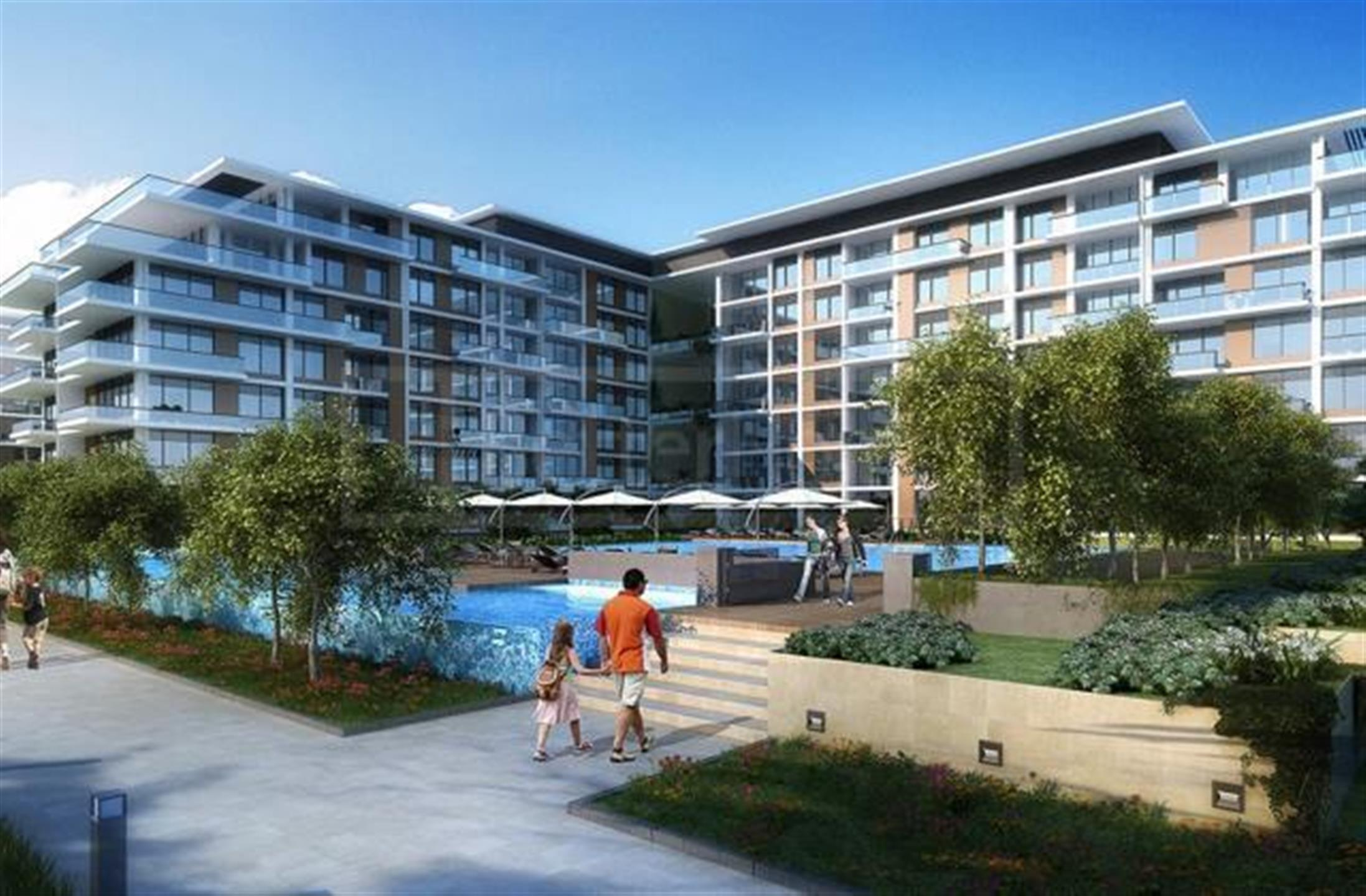 Off plan property with canal and park view