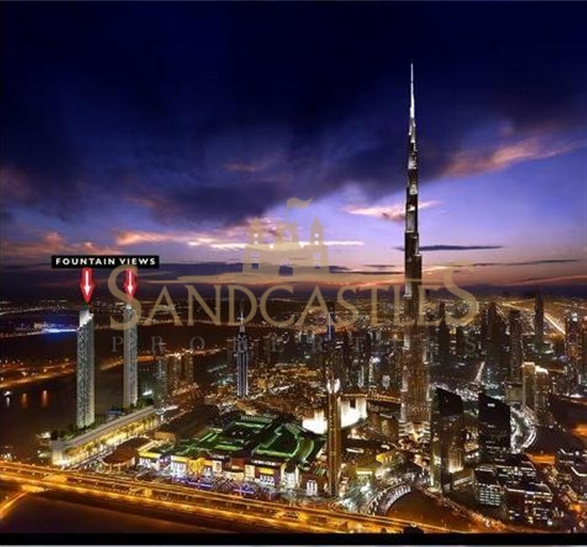 Downtown Dubai, Fountain views 2, 3br apartment for sale ...