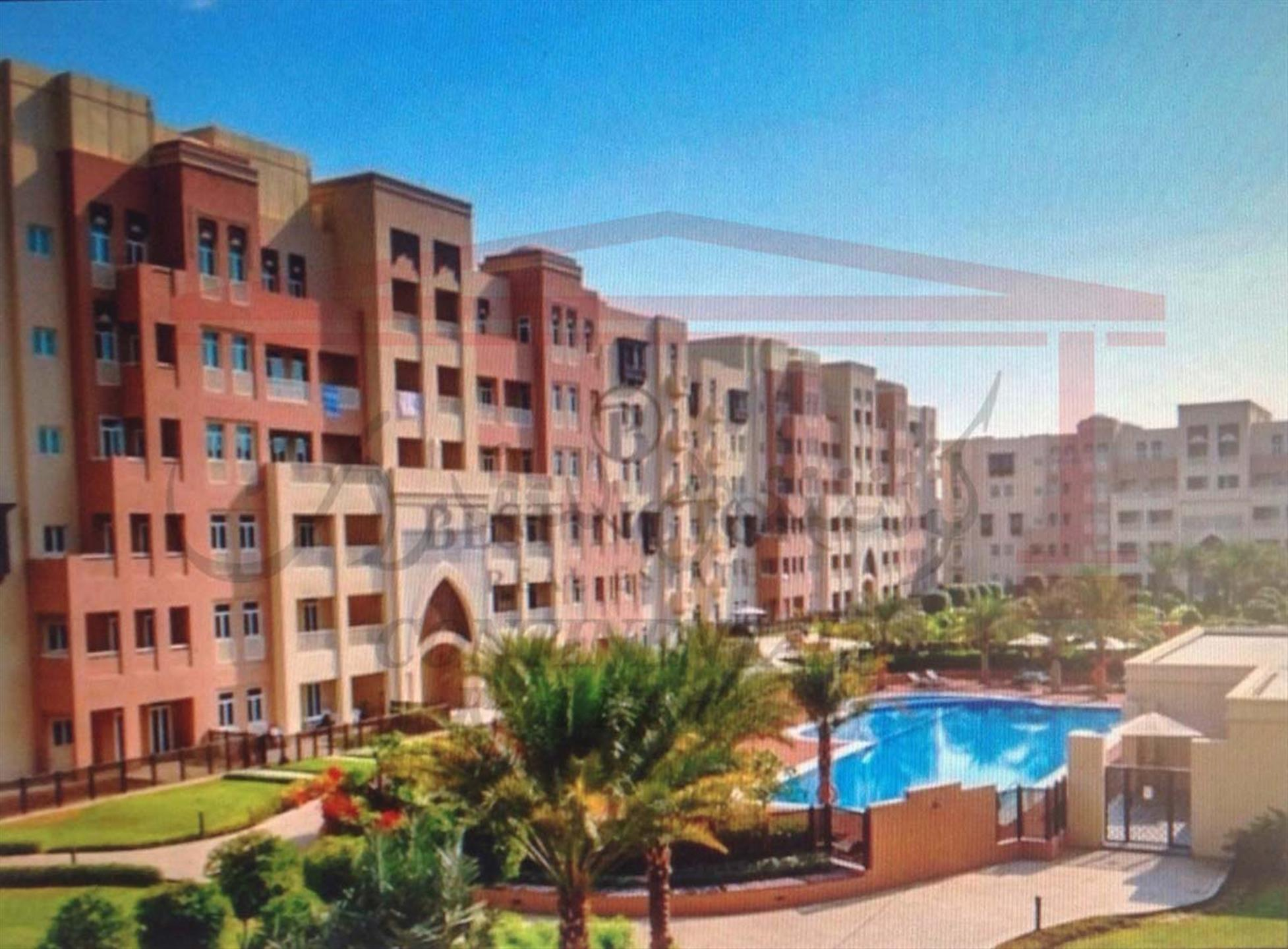 3 Bedroom Apartment with Garden and Pool View at Masakin Al Furjan for Rent