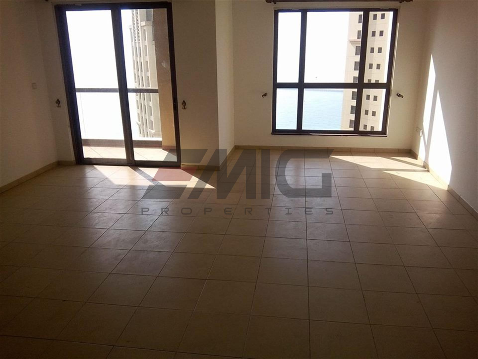 Good Deal in 4 Cheque!! 3+Maids Sea View High Floor vacant in Murjan JBR