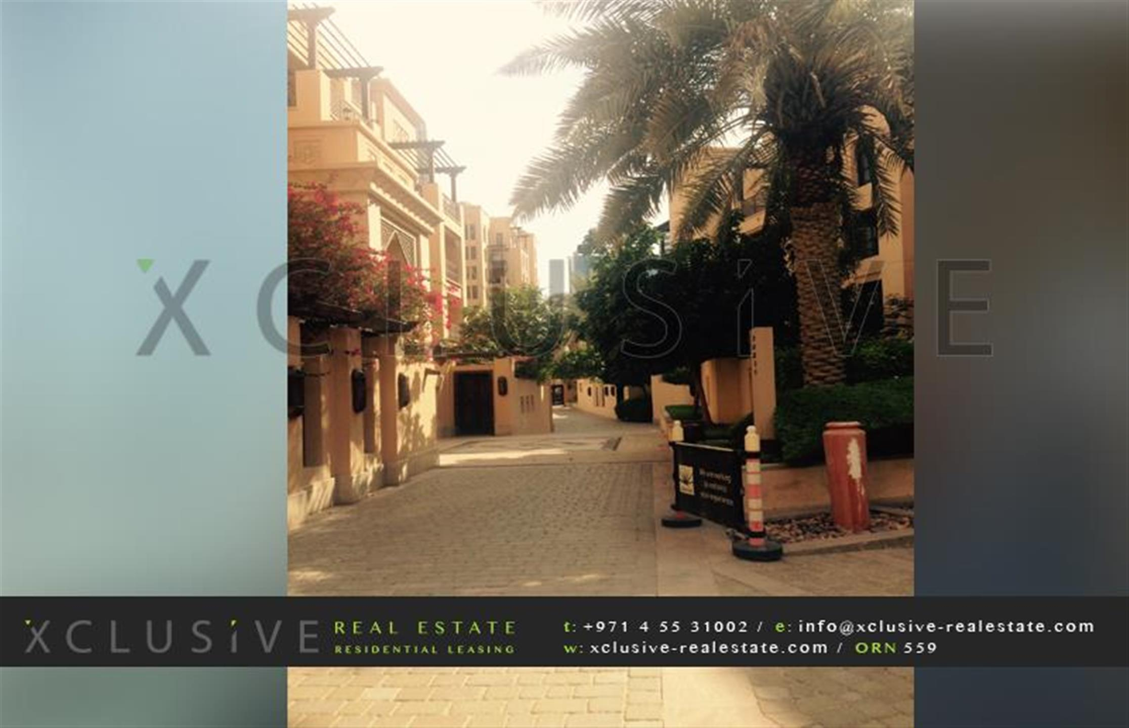 VACANT -Spacious 2br +study + garden in OLD TOWN for SALE  -  AED 3,600,000